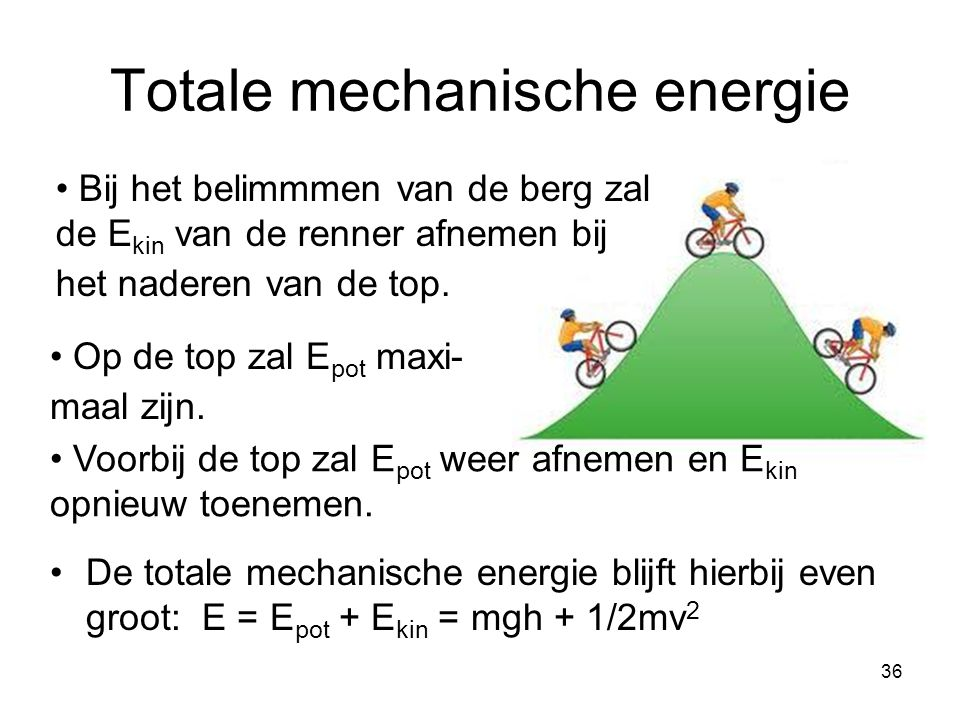 Totale mechanische energie