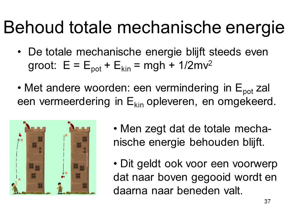 Behoud totale mechanische energie