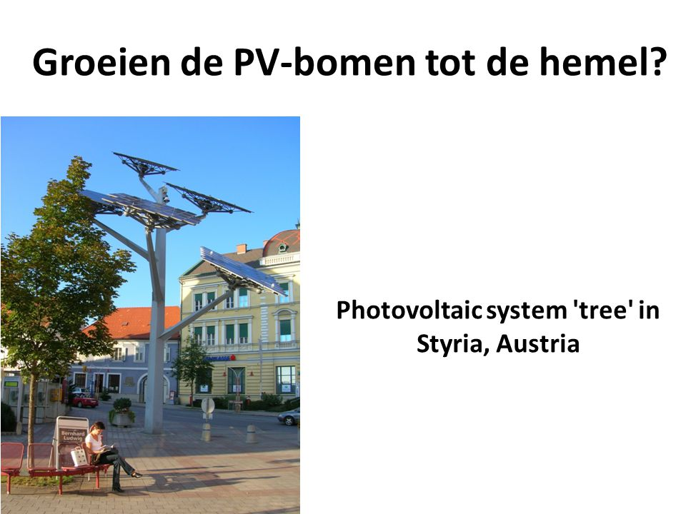 Groeien de PV-bomen tot de hemel
