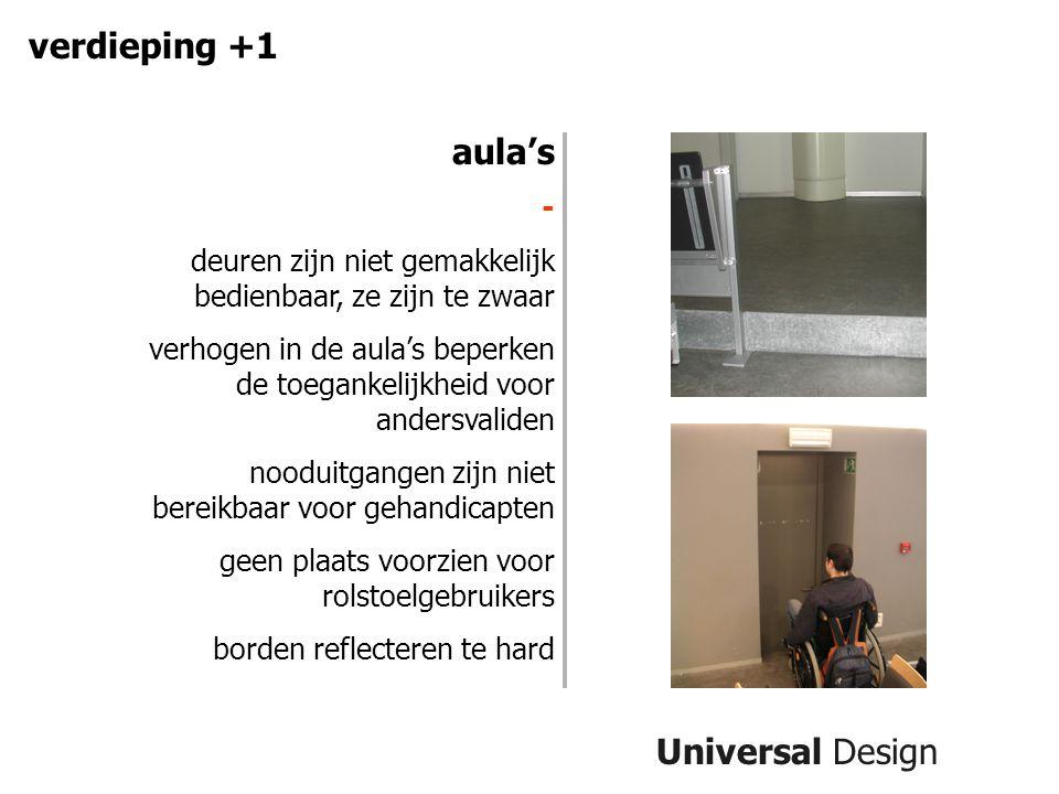 verdieping +1 aula's Universal Design -