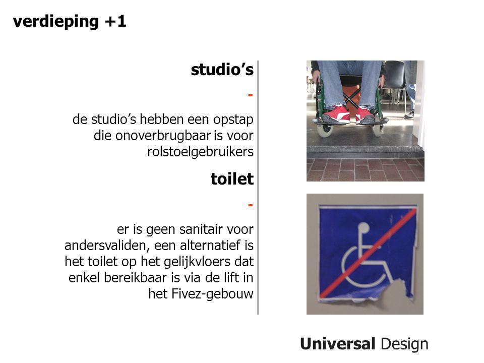 verdieping +1 studio's toilet Universal Design -
