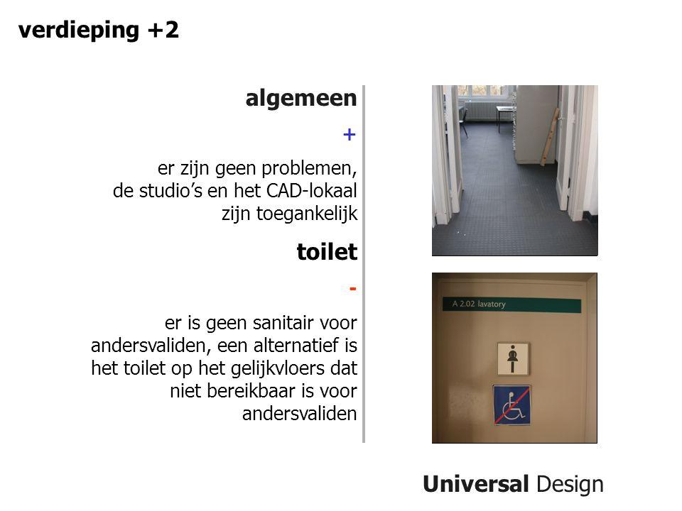 verdieping +2 algemeen toilet Universal Design +