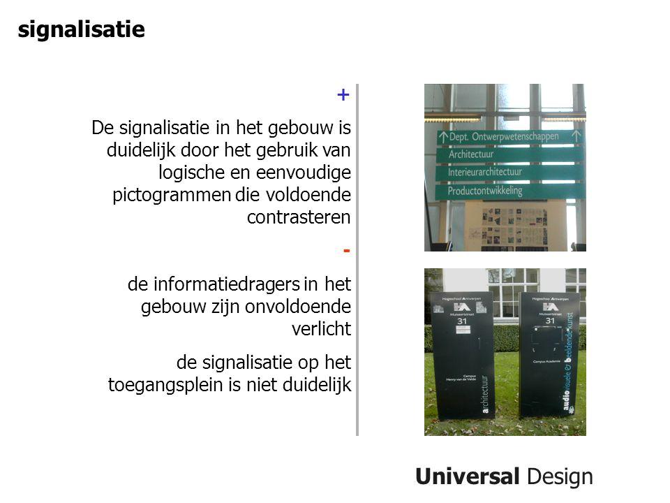 signalisatie Universal Design +