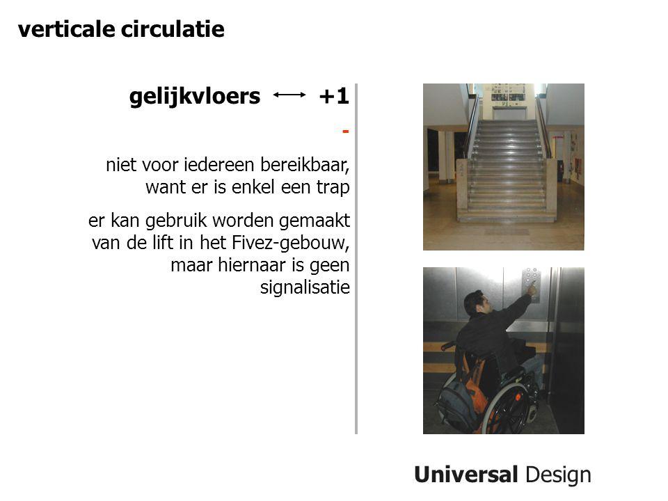 verticale circulatie gelijkvloers +1 Universal Design -