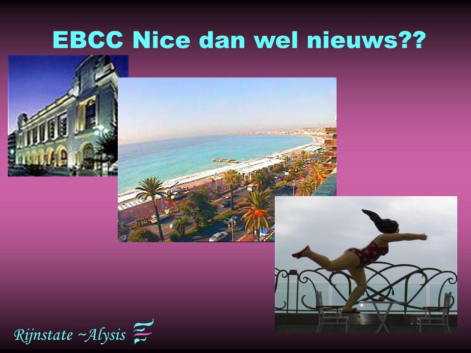 EBCC Nice dan wel nieuws
