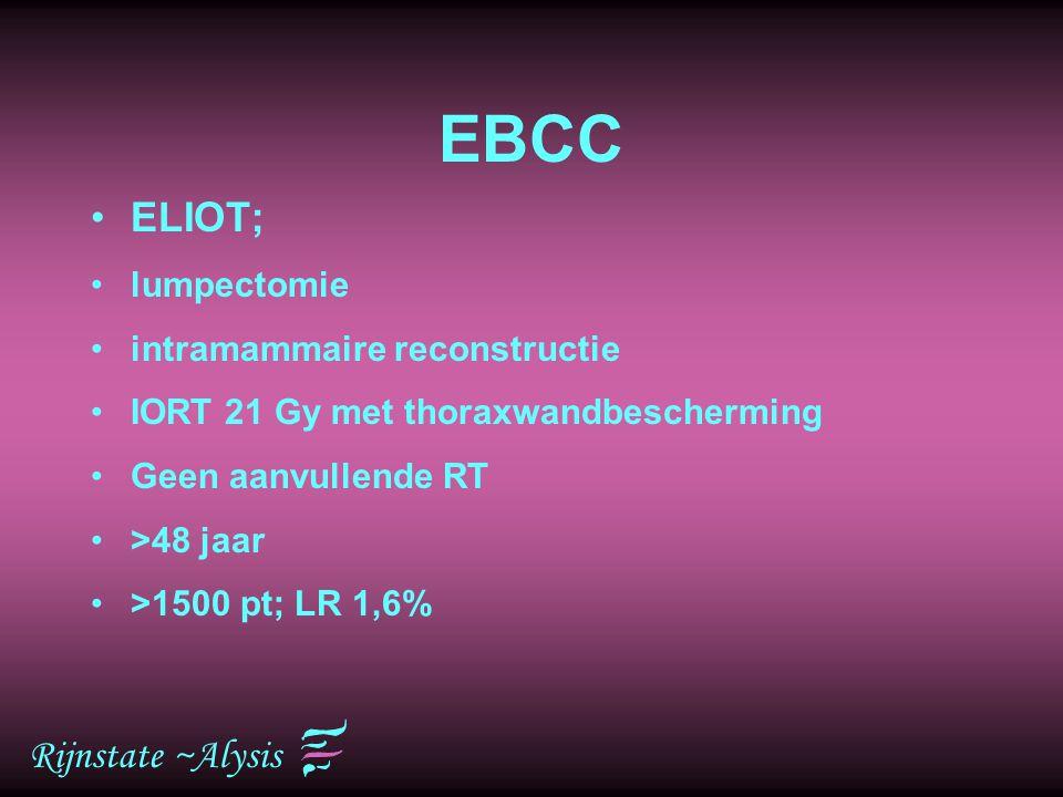 EBCC ELIOT; Rijnstate ~Alysis lumpectomie intramammaire reconstructie