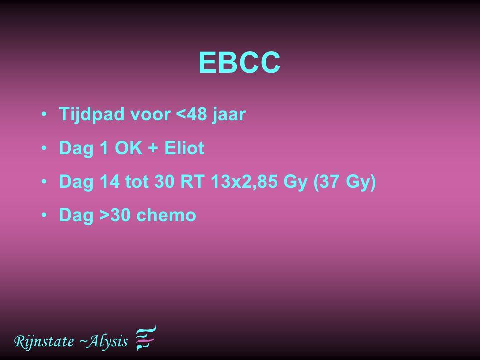 EBCC Tijdpad voor <48 jaar Dag 1 OK + Eliot