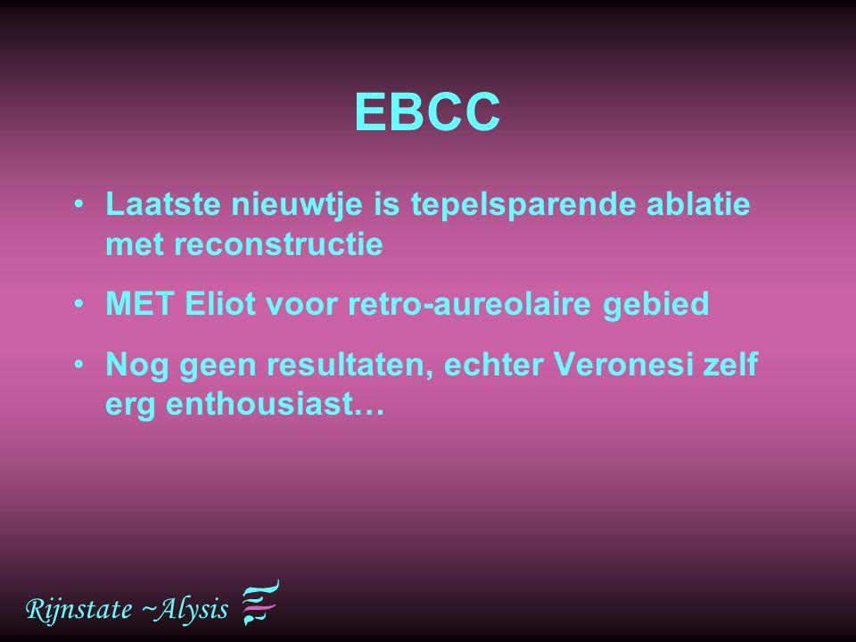 EBCC Laatste nieuwtje is tepelsparende ablatie met reconstructie