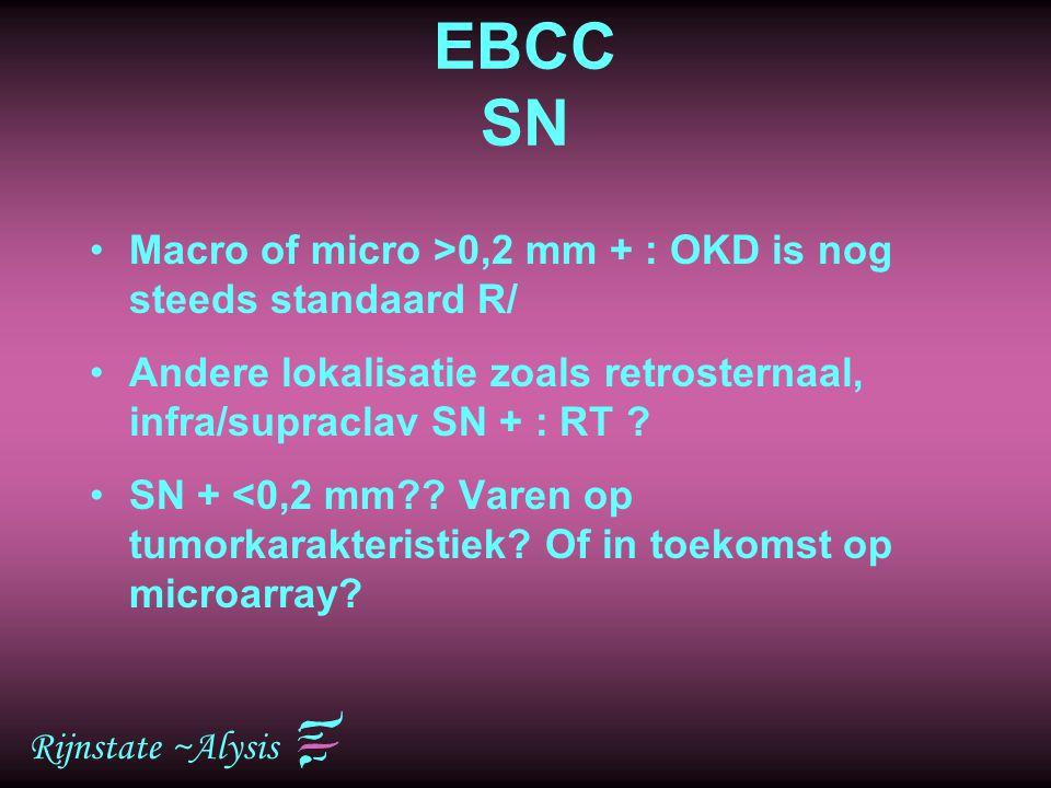 EBCC SN Macro of micro >0,2 mm + : OKD is nog steeds standaard R/