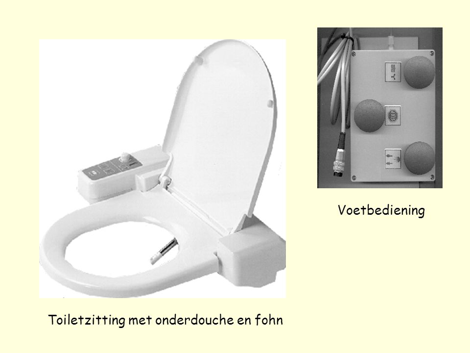 Toiletzitting met onderdouche en fohn