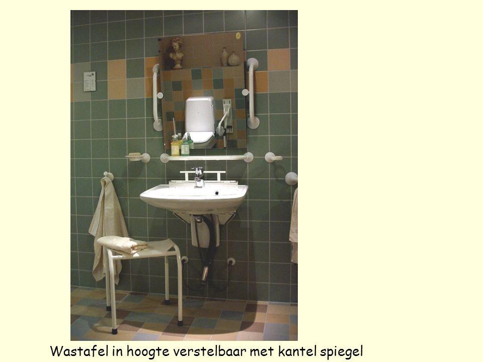 Wastafel in hoogte verstelbaar met kantel spiegel