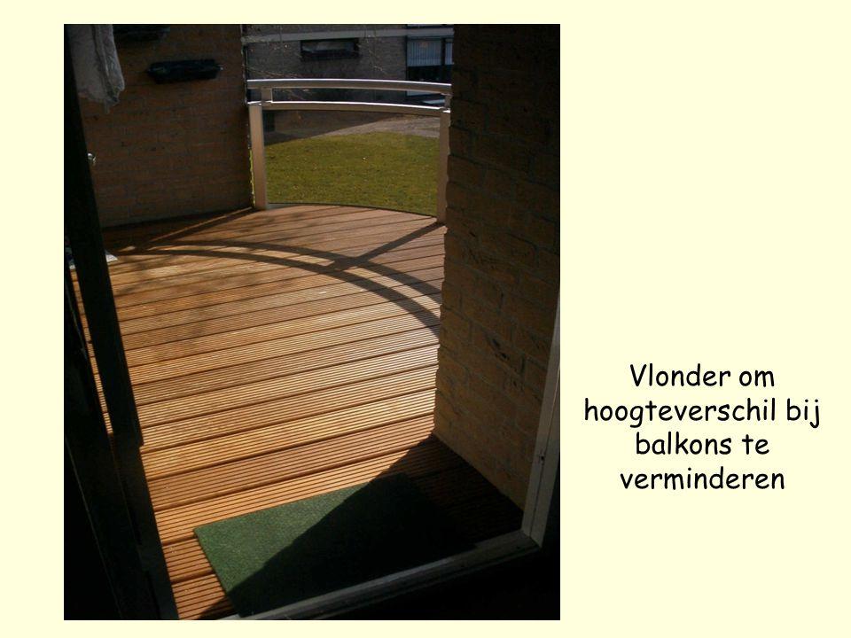 Vlonder om hoogteverschil bij balkons te verminderen