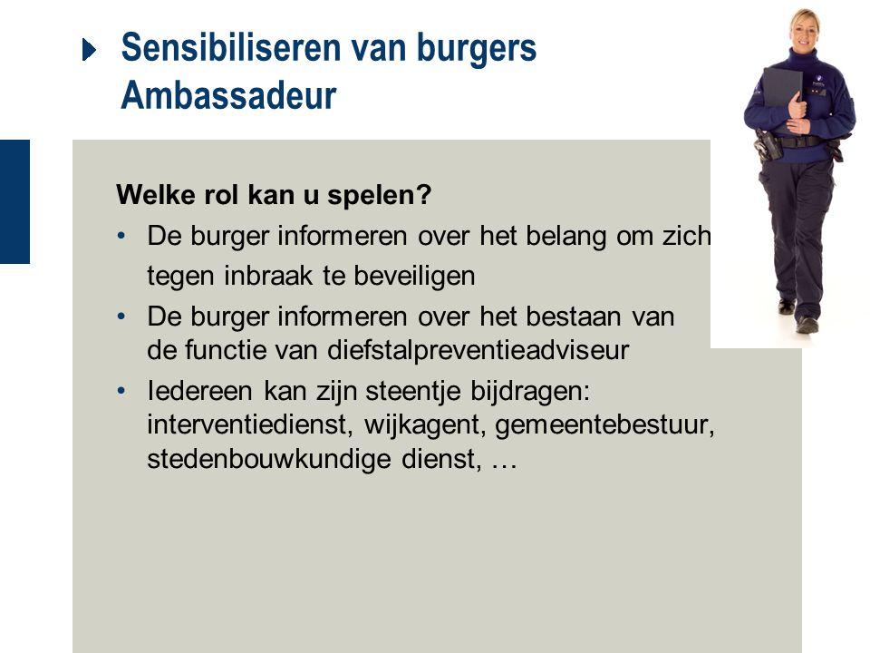 Sensibiliseren van burgers Ambassadeur