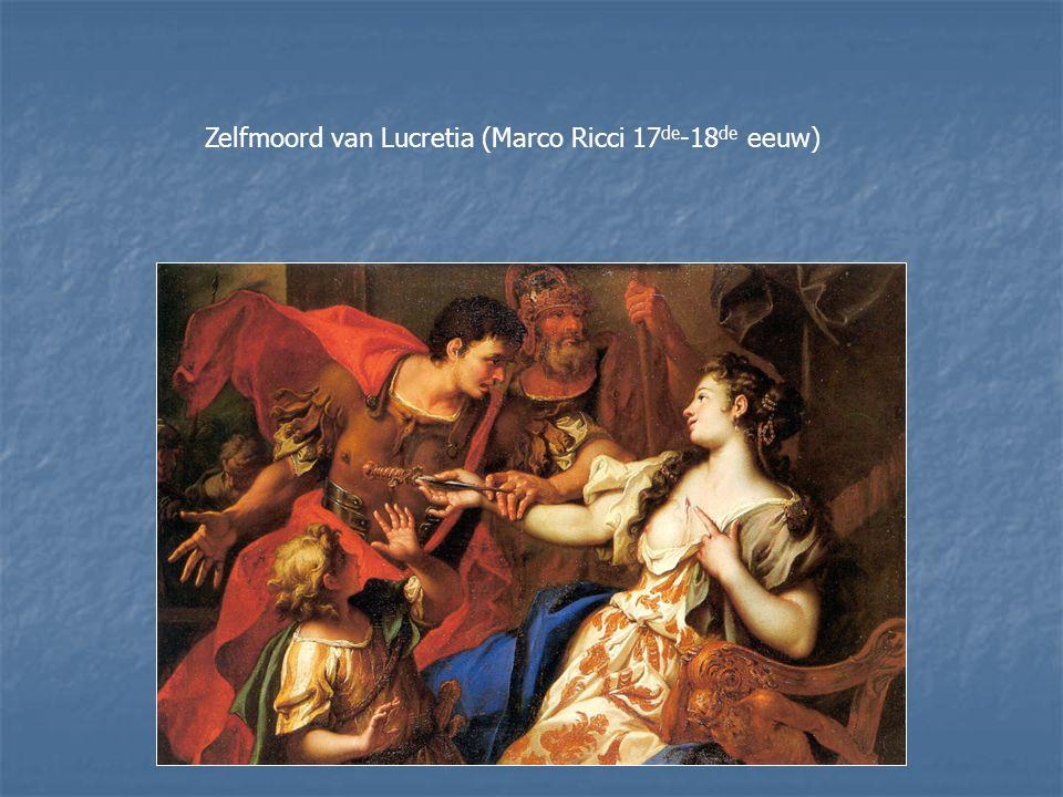 Zelfmoord van Lucretia (Marco Ricci 17de-18de eeuw)