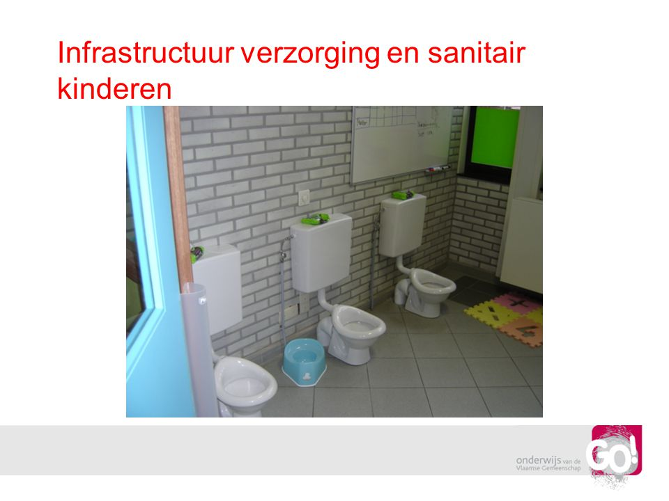 Infrastructuur verzorging en sanitair kinderen