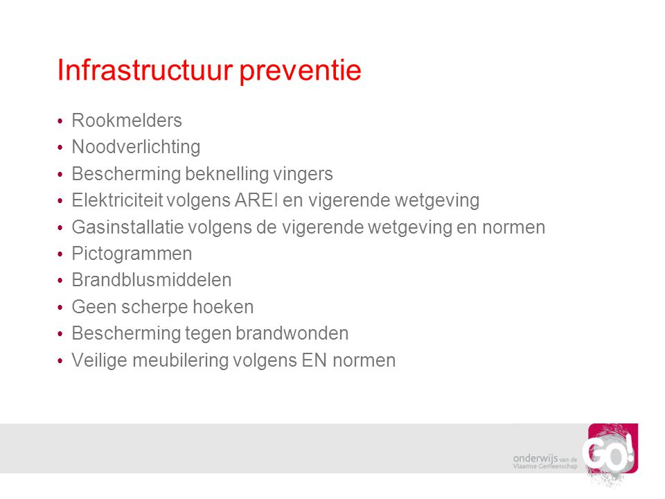 Infrastructuur preventie