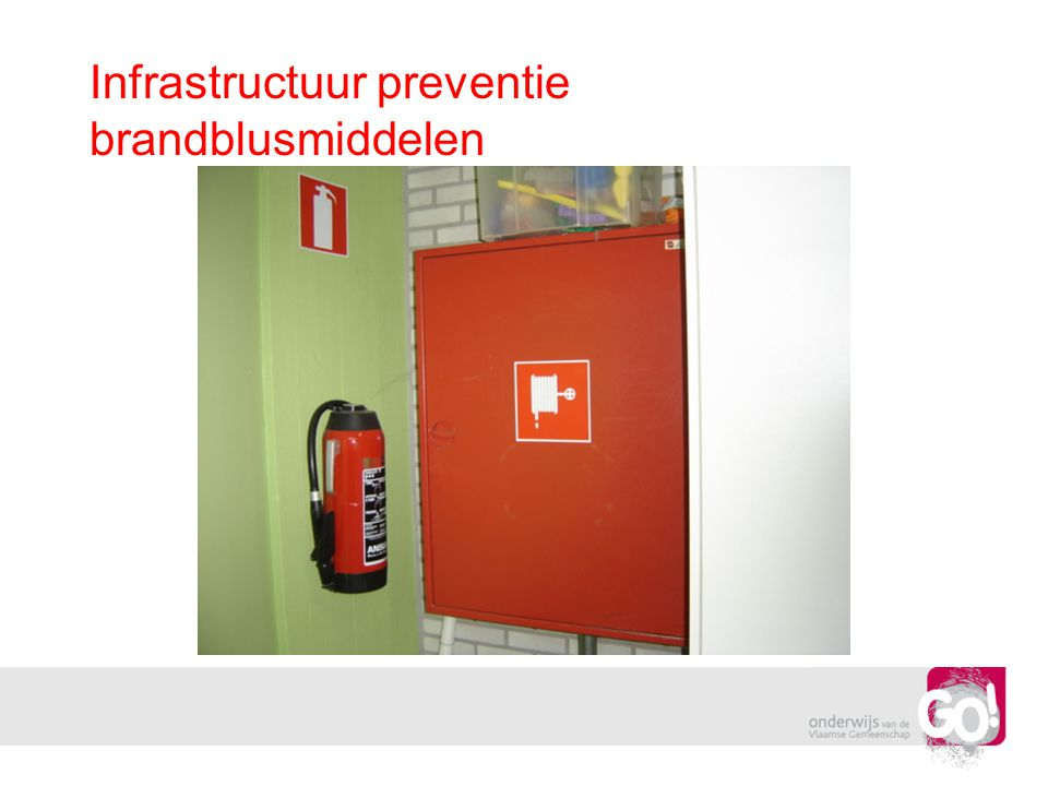Infrastructuur preventie brandblusmiddelen