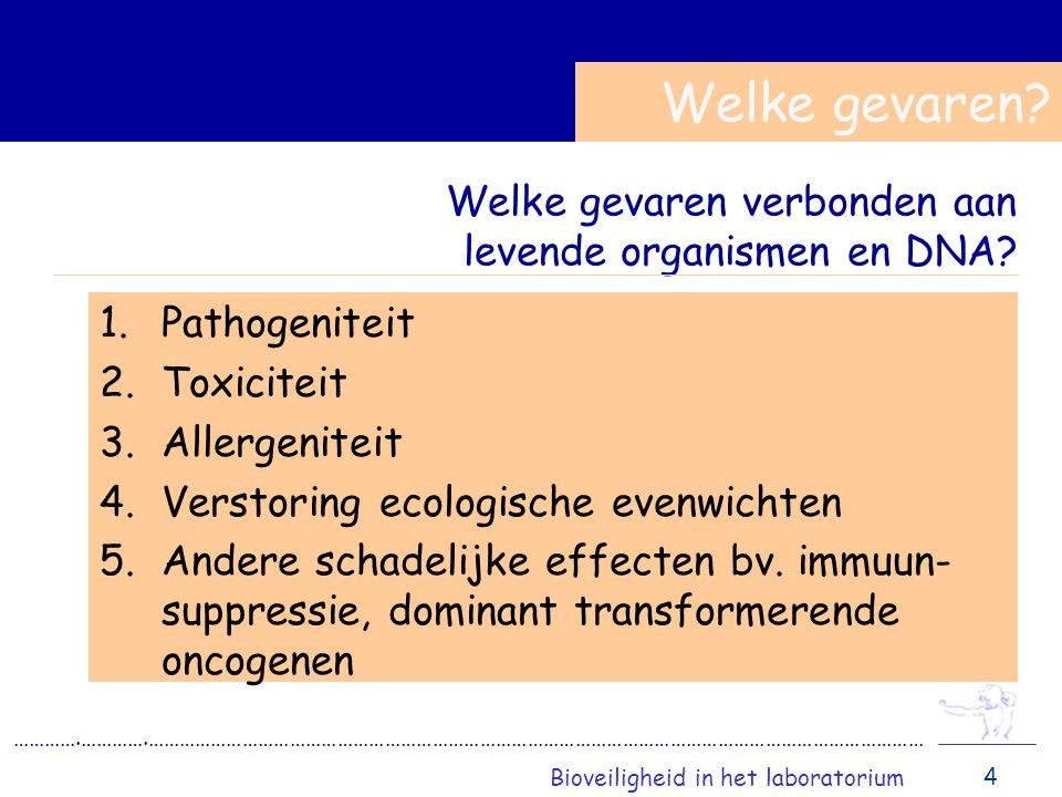 Welke gevaren verbonden aan levende organismen en DNA