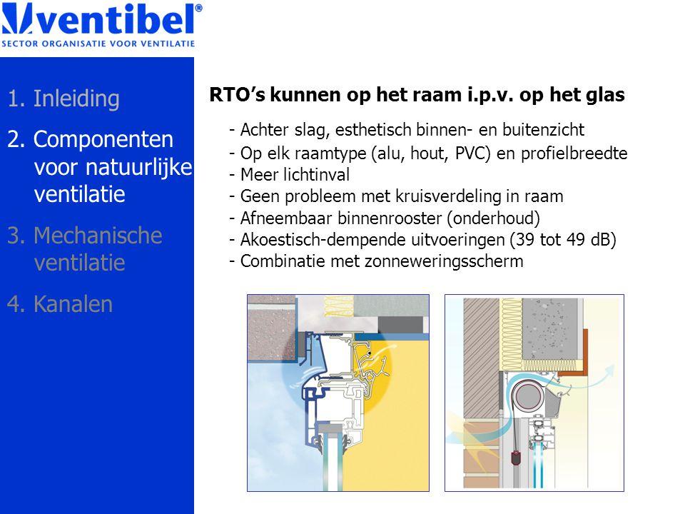 2. Componenten voor natuurlijke ventilatie
