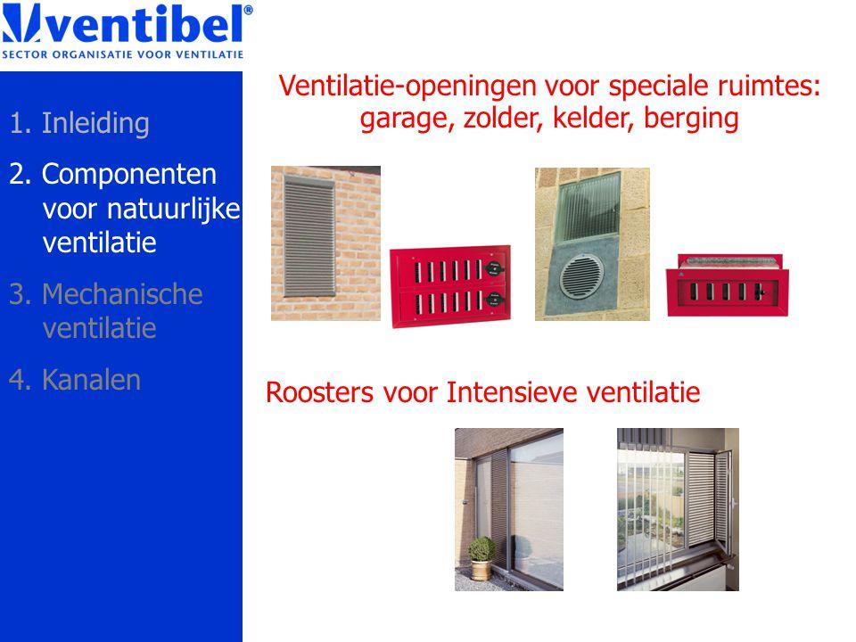 Ventilatie-openingen voor speciale ruimtes: garage, zolder, kelder, berging