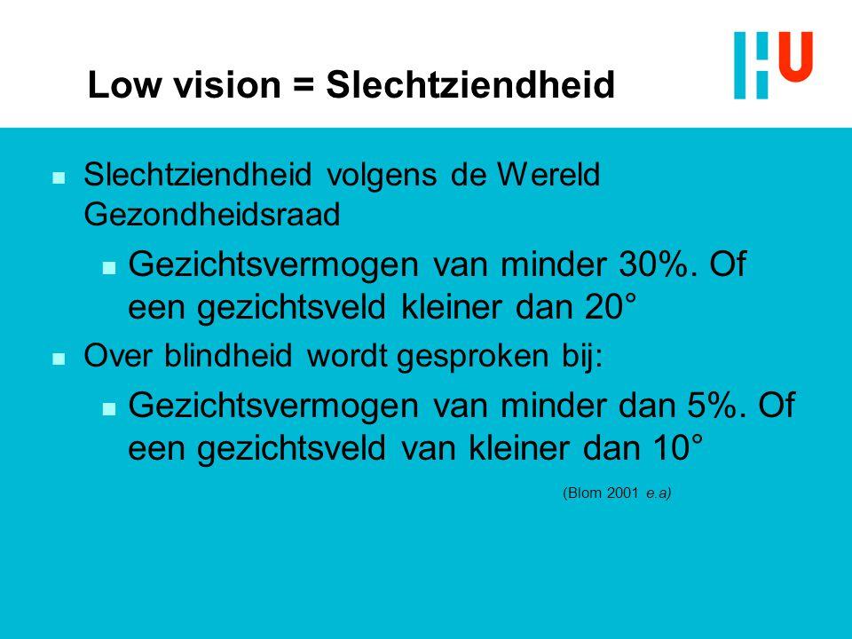 Low vision = Slechtziendheid
