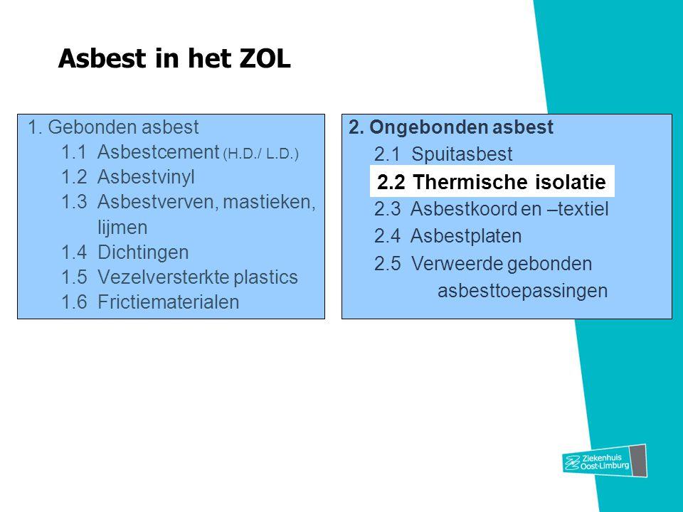 Asbest in het ZOL 2.2 Thermische isolatie