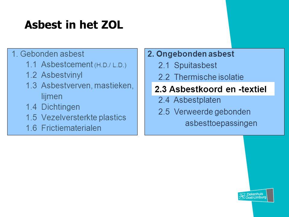 Asbest in het ZOL 2.3 Asbestkoord en -textiel
