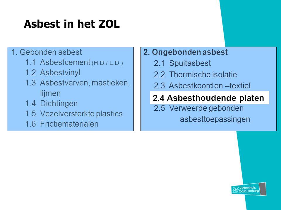 Asbest in het ZOL 2.4 Asbesthoudende platen
