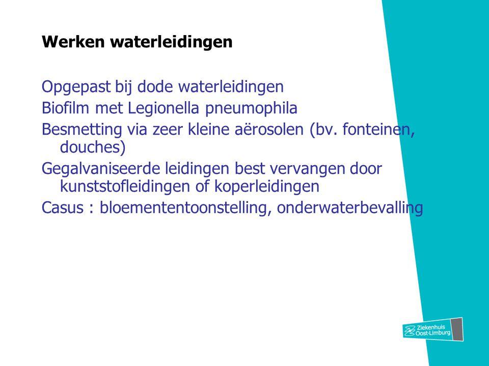 Werken waterleidingen