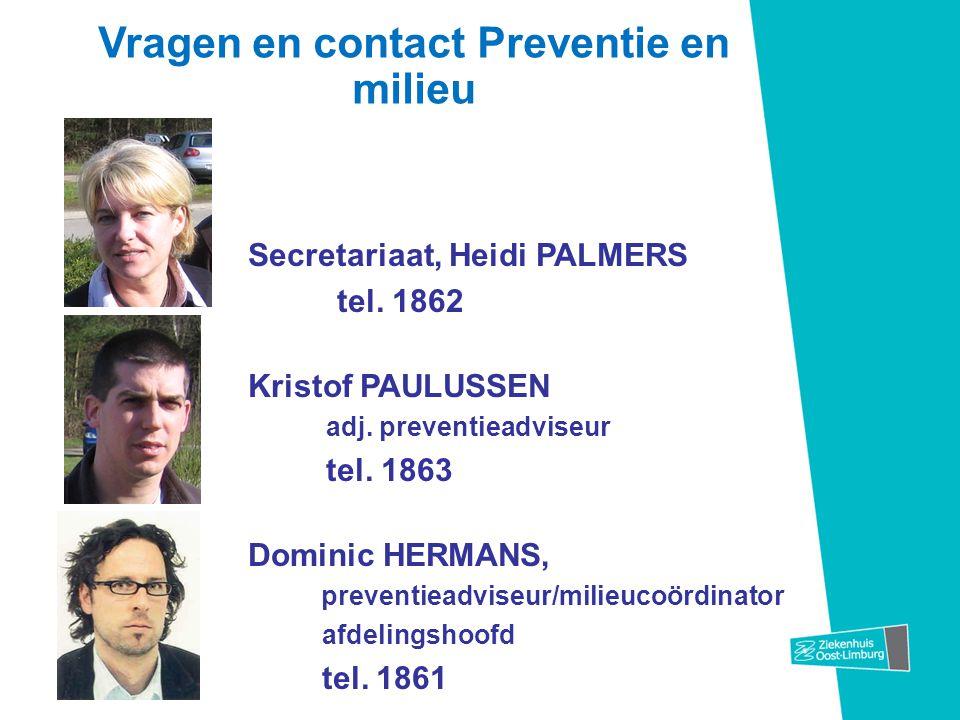 Vragen en contact Preventie en milieu