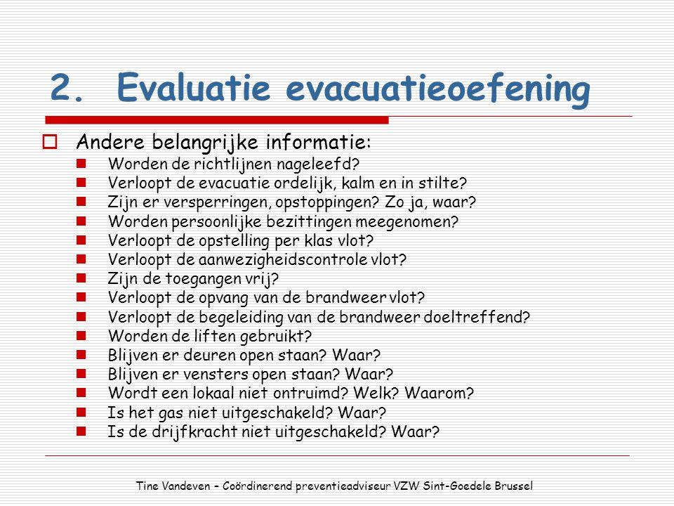 2. Evaluatie evacuatieoefening