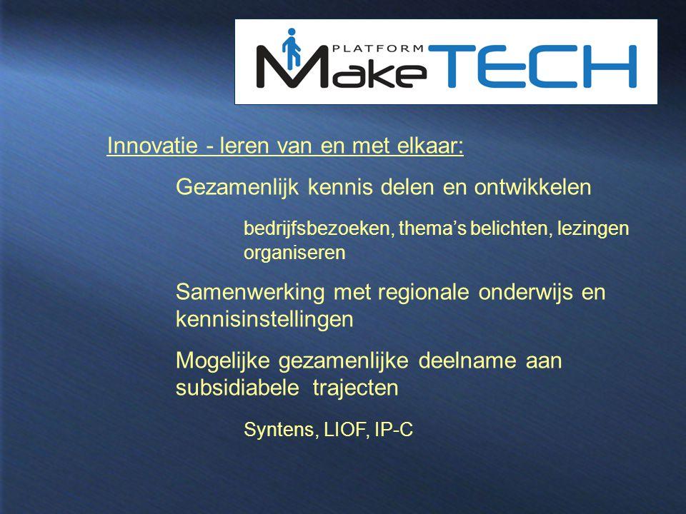Innovatie - leren van en met elkaar: