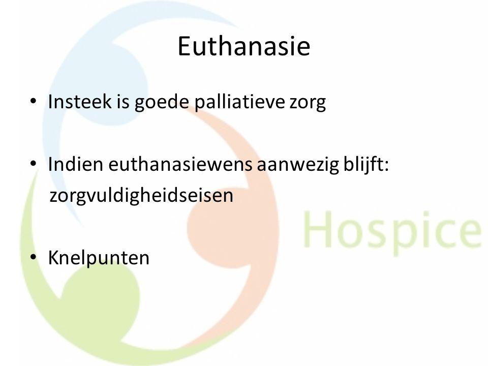 Euthanasie Insteek is goede palliatieve zorg