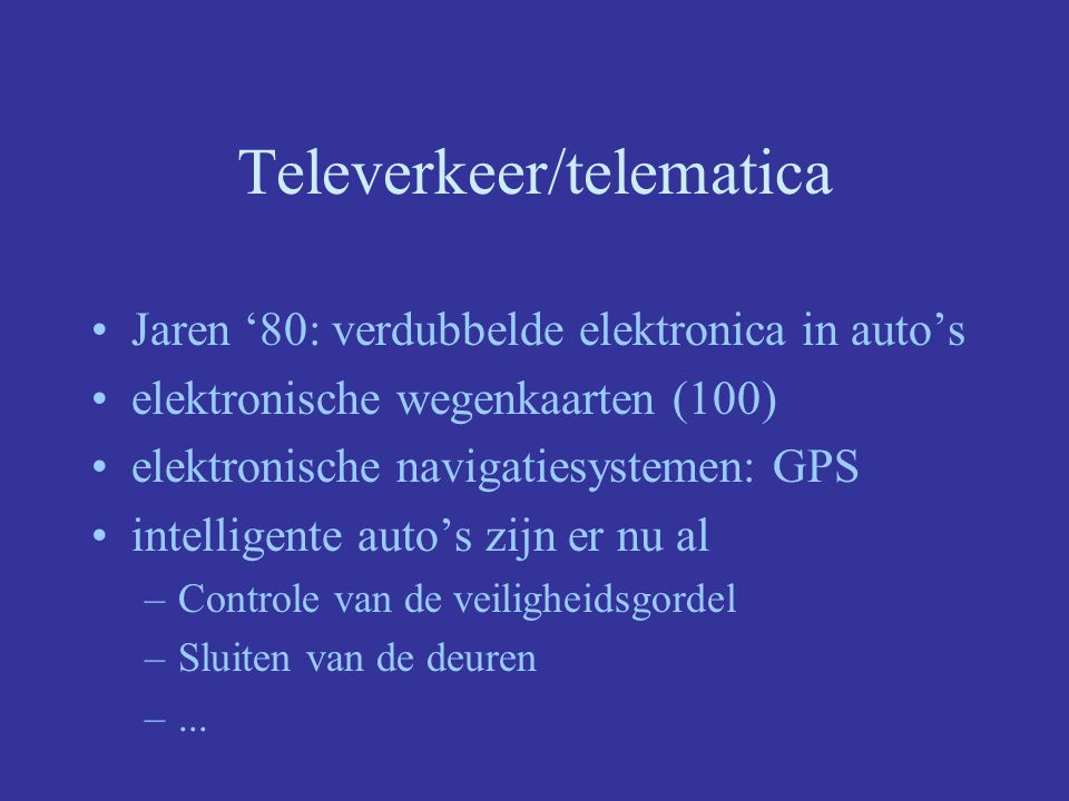 Televerkeer/telematica