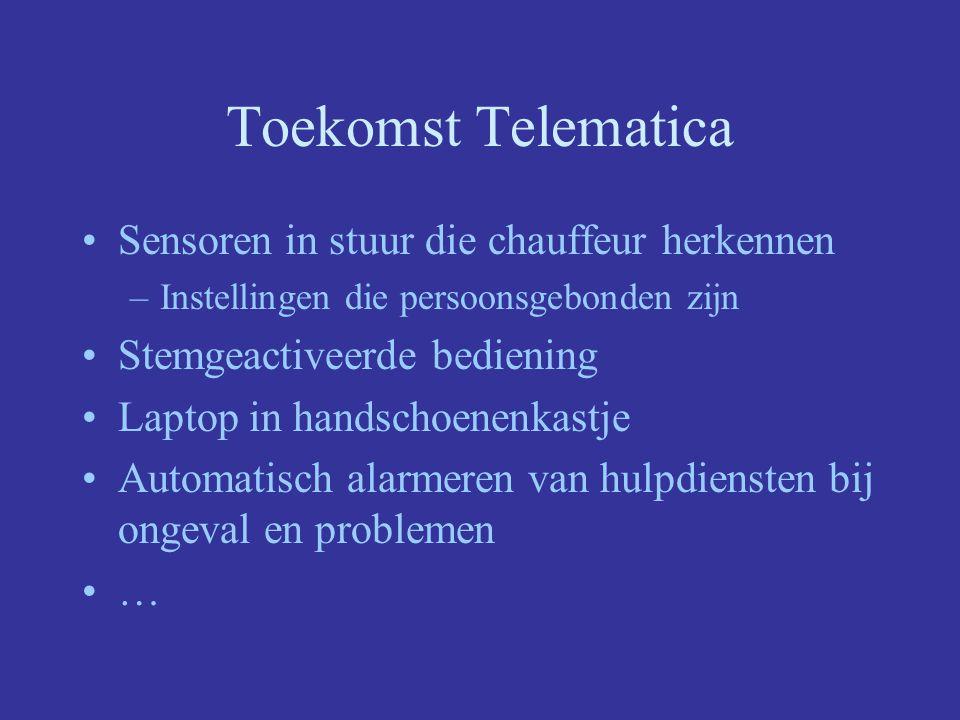 Toekomst Telematica Sensoren in stuur die chauffeur herkennen