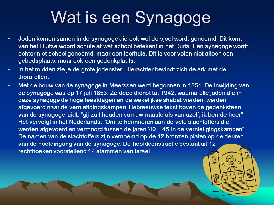 Wat is een Synagoge