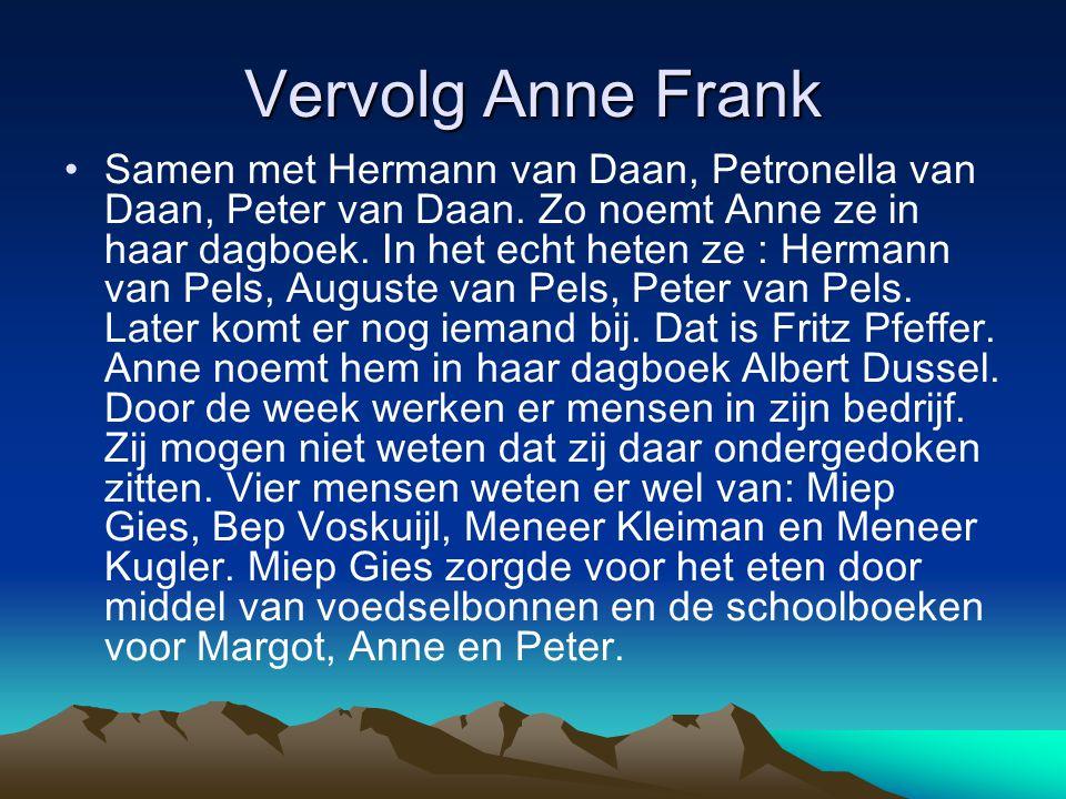 Vervolg Anne Frank