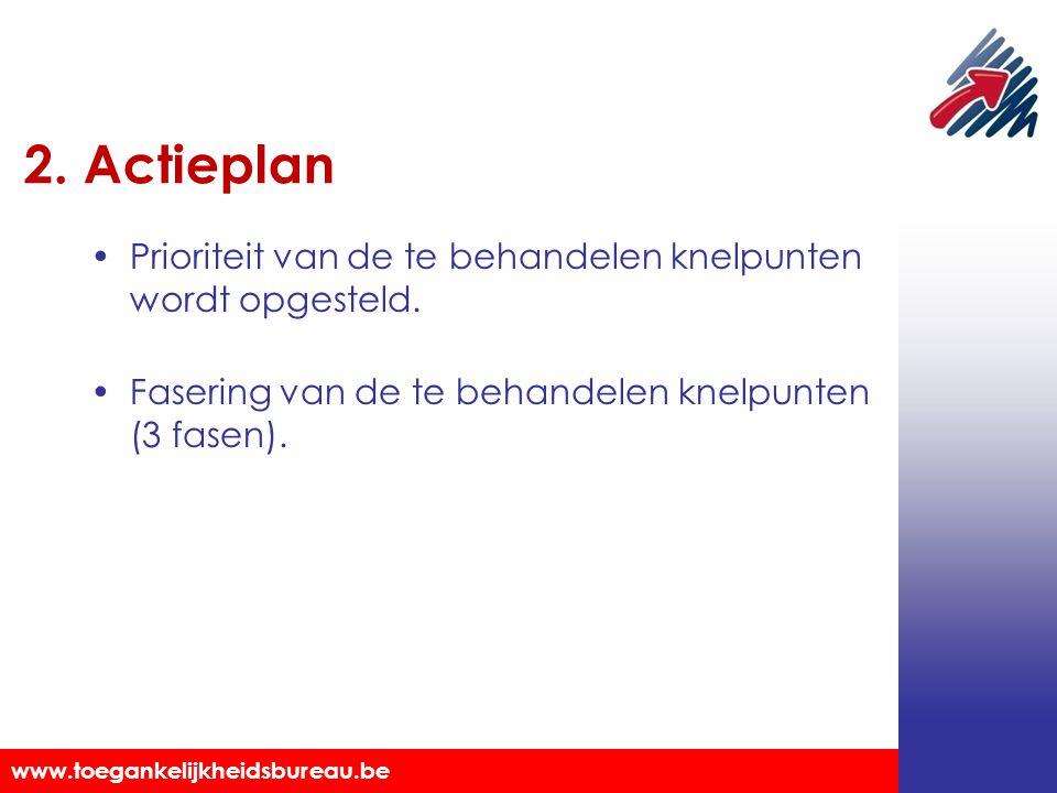 2. Actieplan Prioriteit van de te behandelen knelpunten wordt opgesteld.
