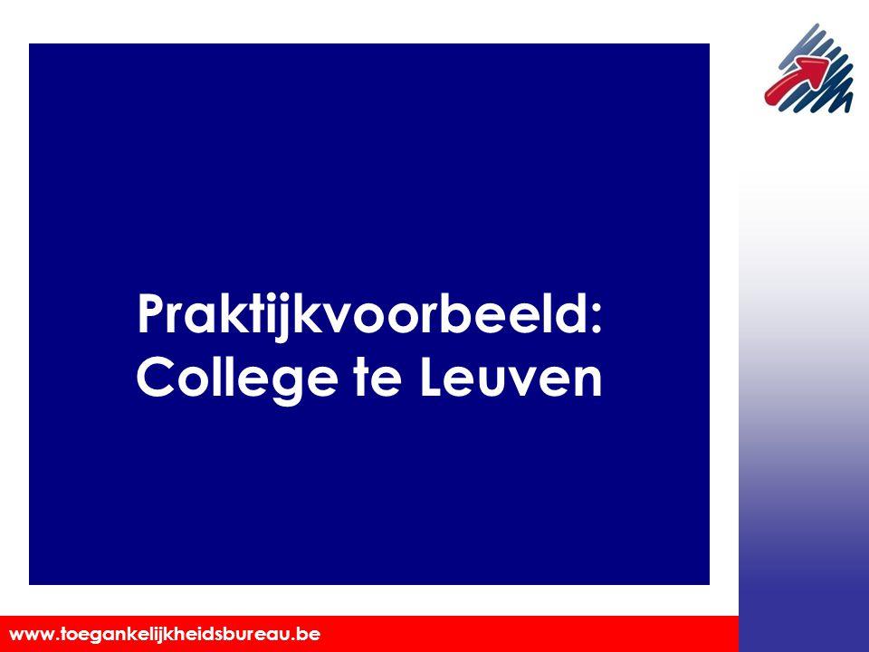 Praktijkvoorbeeld: College te Leuven