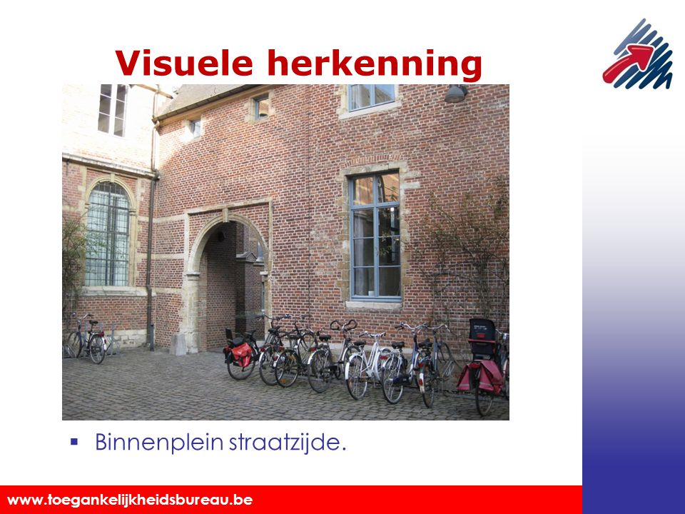 Visuele herkenning Binnenplein straatzijde.