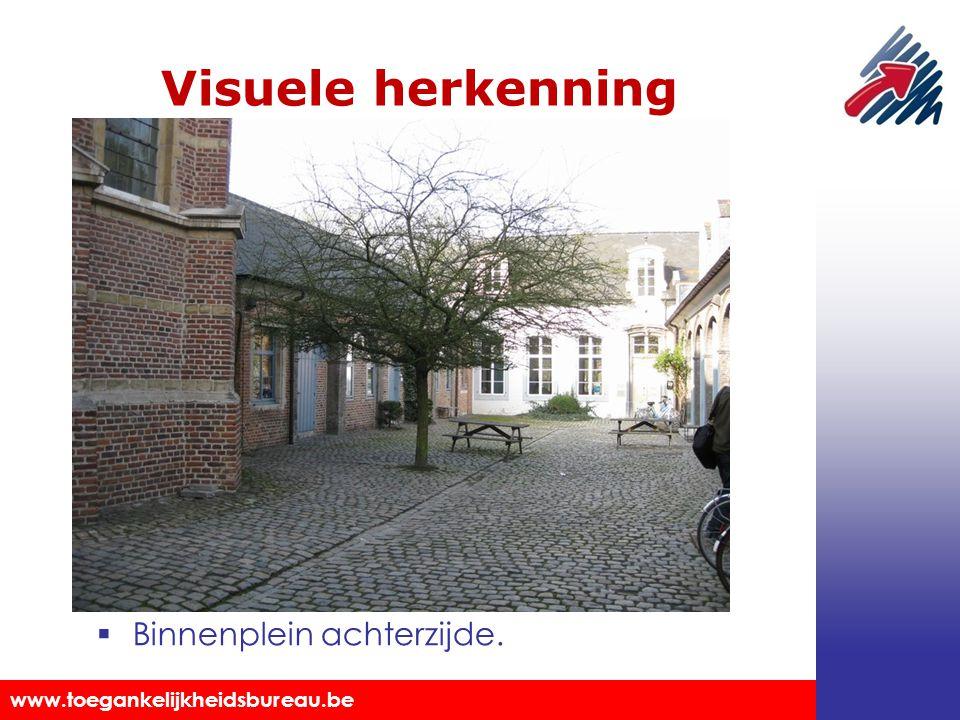 Visuele herkenning Binnenplein achterzijde.