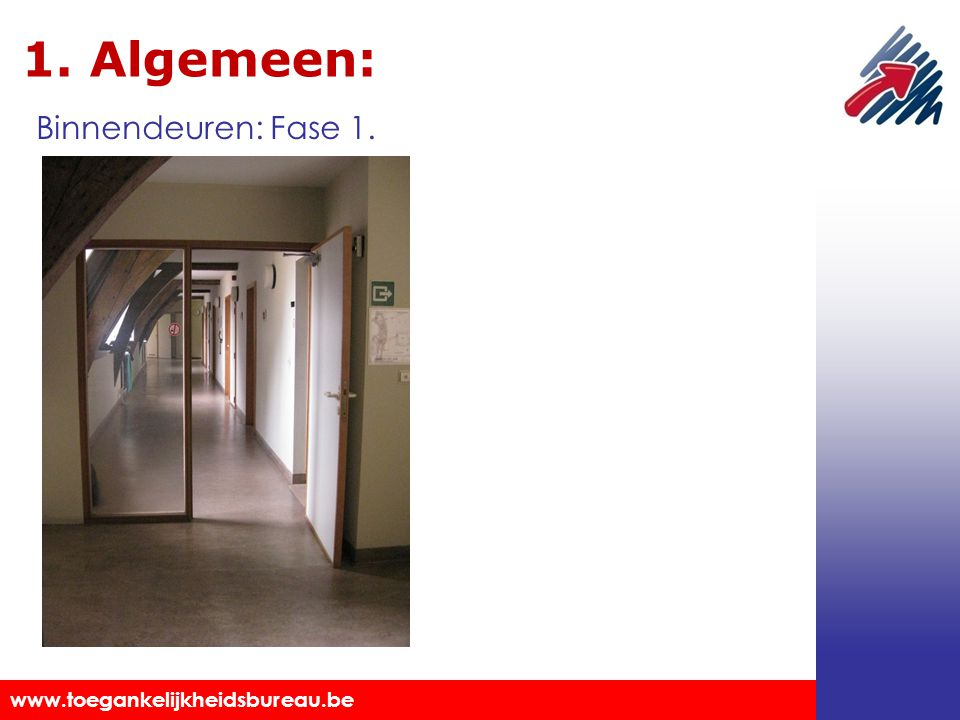 1. Algemeen: Binnendeuren: Fase 1. Markeringen aanbrengen.
