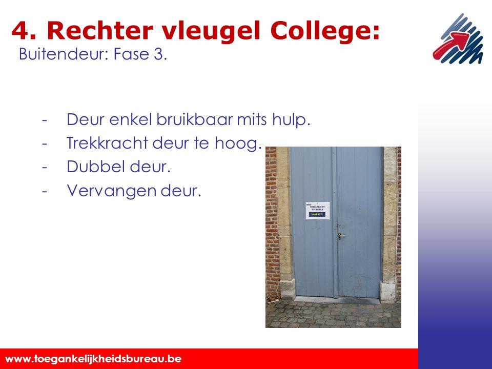 4. Rechter vleugel College: