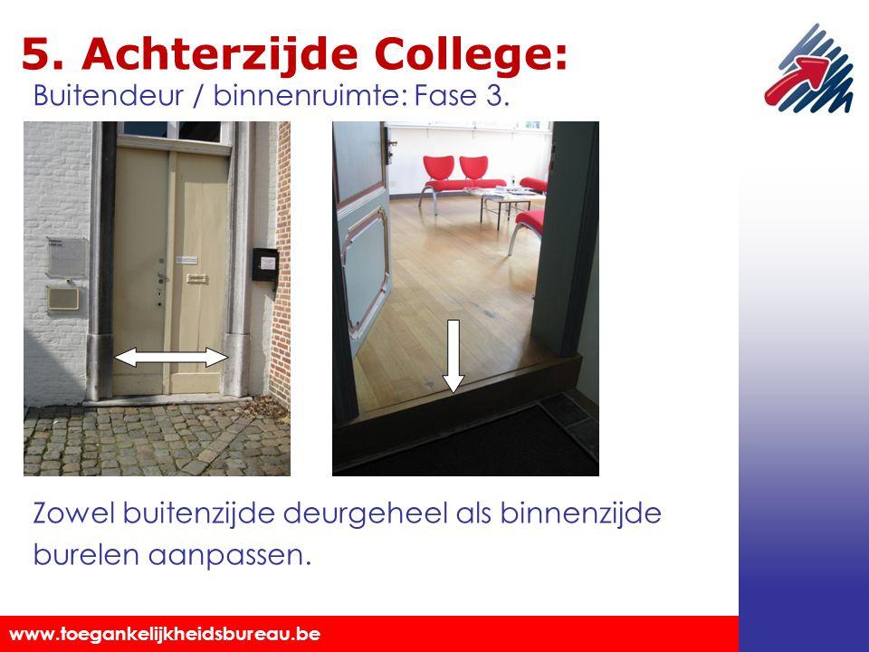 5. Achterzijde College: Buitendeur / binnenruimte: Fase 3.