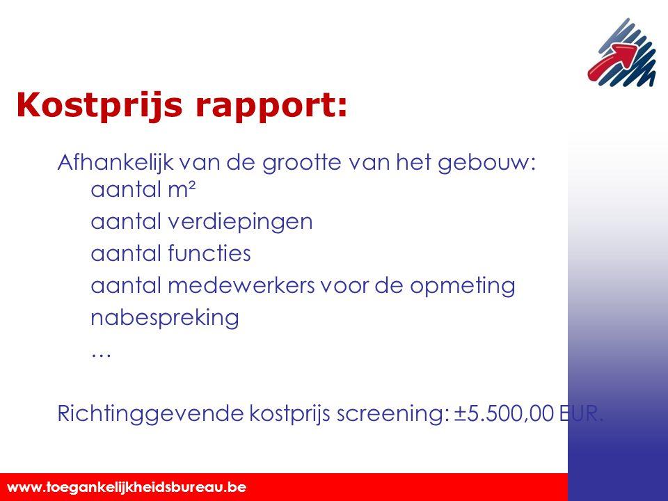 Kostprijs rapport:
