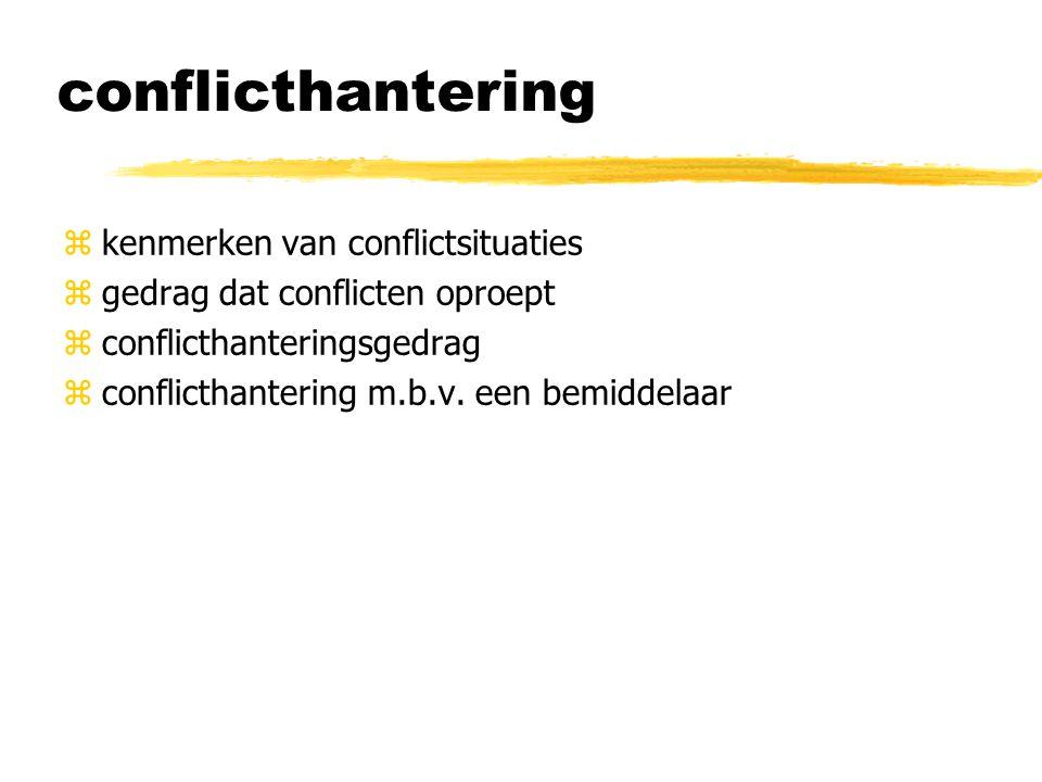 conflicthantering kenmerken van conflictsituaties