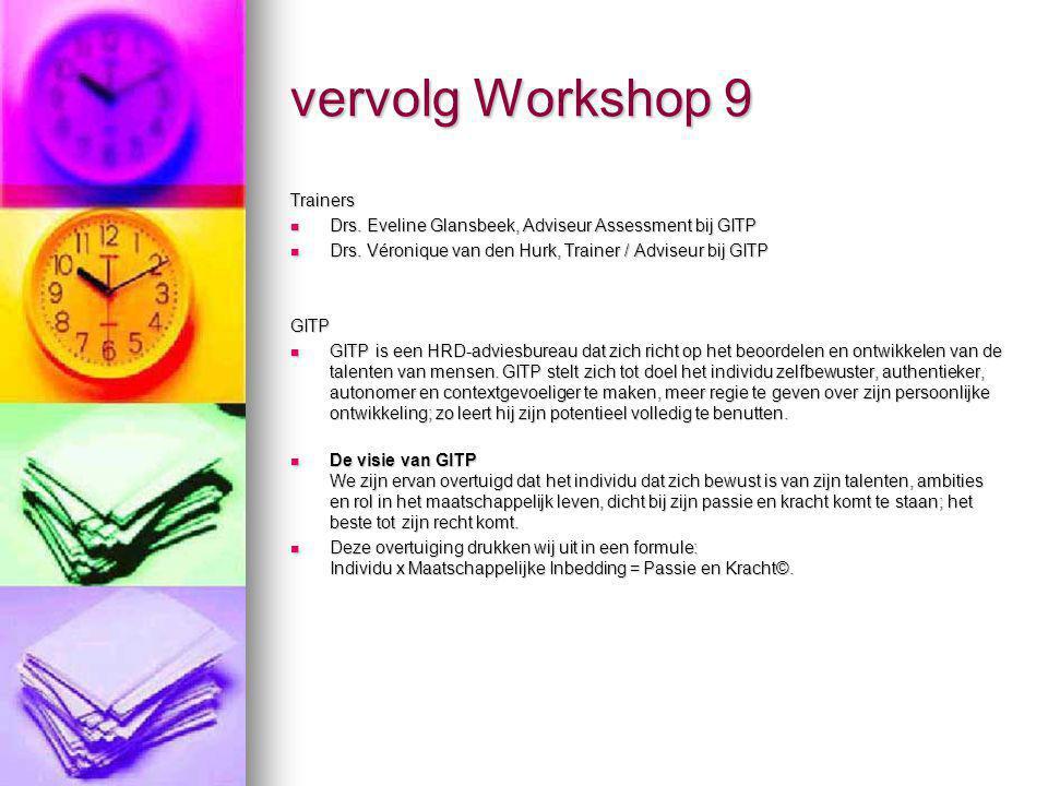 vervolg Workshop 9 Trainers