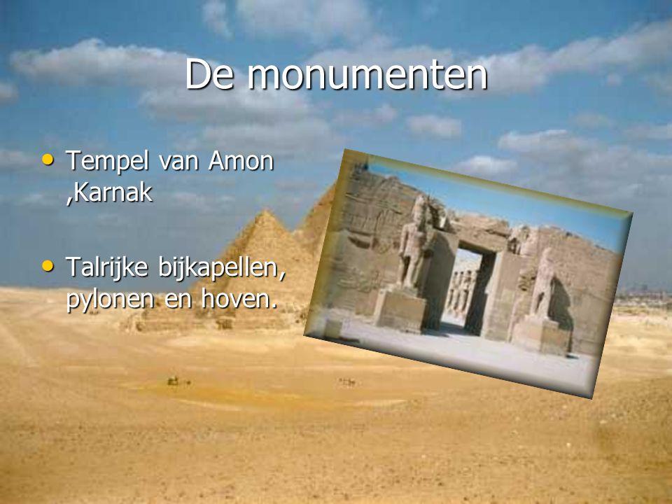 De monumenten Tempel van Amon ,Karnak