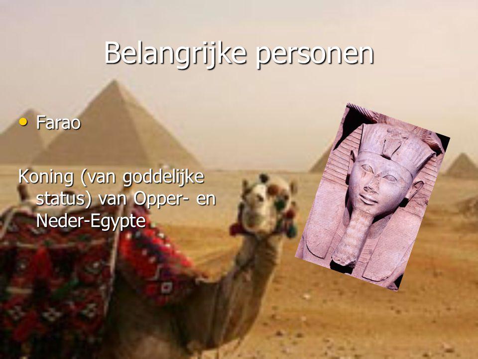 Belangrijke personen Farao