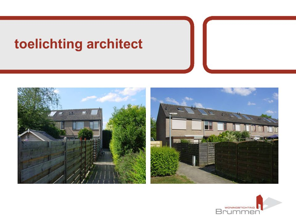 toelichting architect